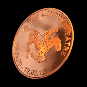 Back of Custom Made War Horse Commemorative Coin to mark the success of the New London Theatre Production