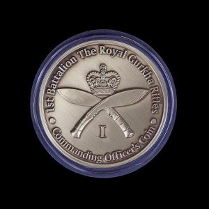 1st Battalion The Royal Gurkha Rifles 50mm Gold Commanding Officer's Coin Award