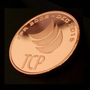The 38mm Bronze Lockheed Martin Custom Made Commemorative Coin was produced to celebrate their TCP technology