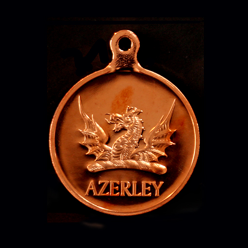 Azerley Estate Charity Clay Shoot Sports Medals produced in gold by Medals UK for winners of the 2016 event