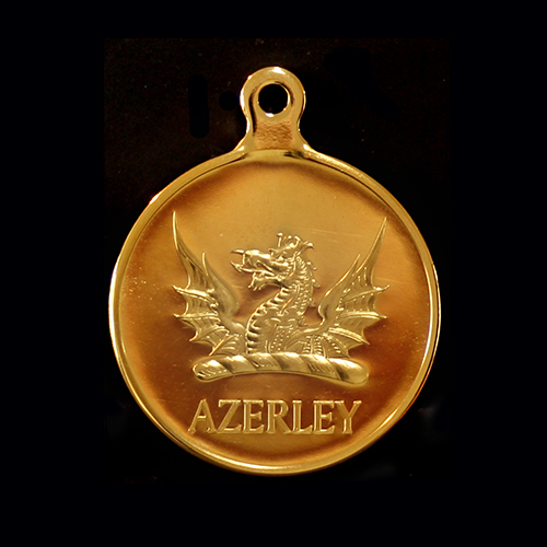 Azerley Estate Charity Clay Shoot Sports Medals produced in silver by Medals UK