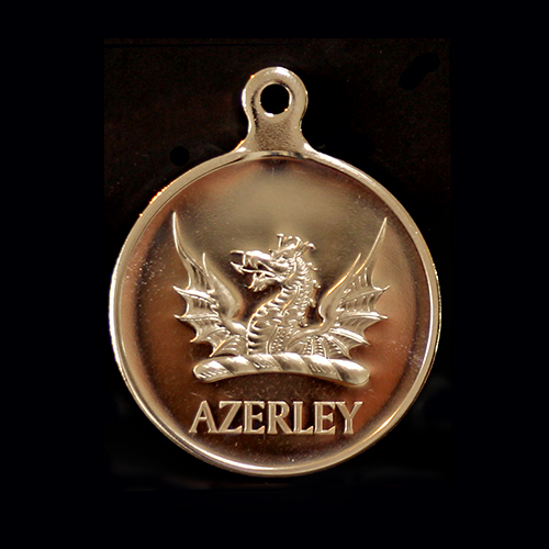 Azerley Estate Charity Clay Shoot Sports Medals produced in gold  by Medals UK