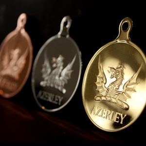 Azerley Estate Charity Clay Shoot Sports Medals produced in gold