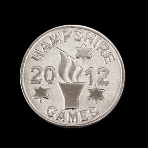 Hampshire Games Commemorative Coin 2012 - 38mm Silver Frosted Polished Commemorative Sports Coin - By Medals UK