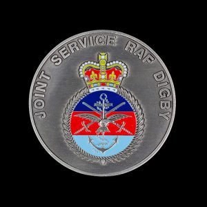 RAF Digby 70mm Silver Enameled Antique Joint Services Sports Medal