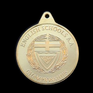 English Schools Athletics Association - 38mm gold minted ESAA Championships - Supportive
