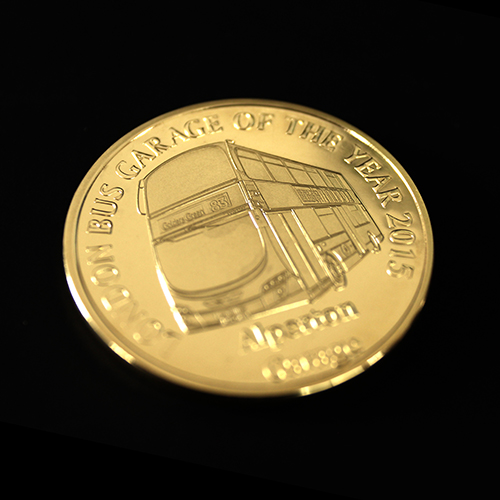 The bespoke Metroline Commemorative Coin was awarded to the best London Garage in 2015
