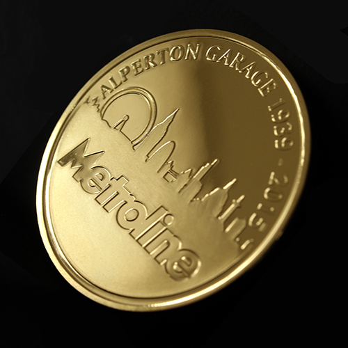 The Metroline Commemorative Coin was custom made to be awarded to the winner of the best London Garage in 2015