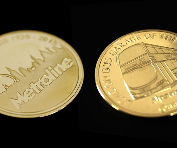 I Thoroughly recommend Medals UK - testimonial for Metroline Commemorative Coin custom made for the best London Garage of the year 2015 by Medals UK front and back of coin