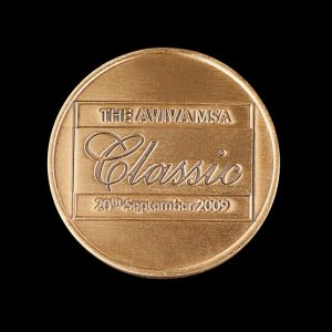 International Motor Sport Limited 45mm Gold Antique The AVIVA MSA Classic 2009 Sports Medal