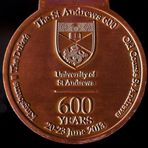 St Andrews Golf Anniversary Medal - 600 years 85mm Bronze Antique Sports Commemorative Medal Reverse - by Medals UK