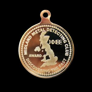 Bespoke medals - Midland Metal Detecting Club 50mm Gold Minted Sports Medal