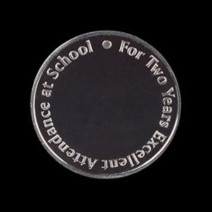 Oxfordshire County Council Anniversary Medal - 38mm silver minted awards coin for 2 Years Attendance - by Medals UK
