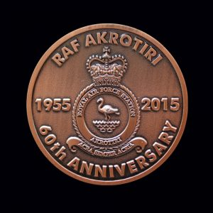 RAF Akritori Crest 50mm Bronze Antique Finish 60th Anniversary Medal