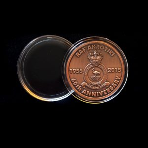 RAF Akritori Crest 50mm Bronze Antique Finish 60th Anniversary Medal v3