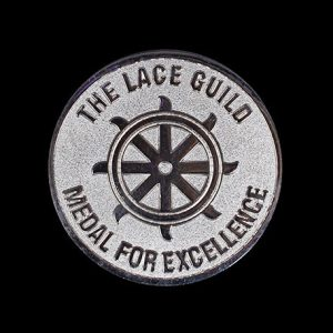 Lace Guild Award Coin for excellence - 38mm silver frosted/polished - Medals UK