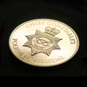 Staffordshire Police 38mm Gold Minted 20 Years of Service Awards Medal