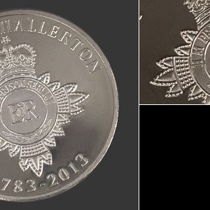 HMP Northallerton Anniversary Coin - 38mm silver minted laurel wreath commemorative coin